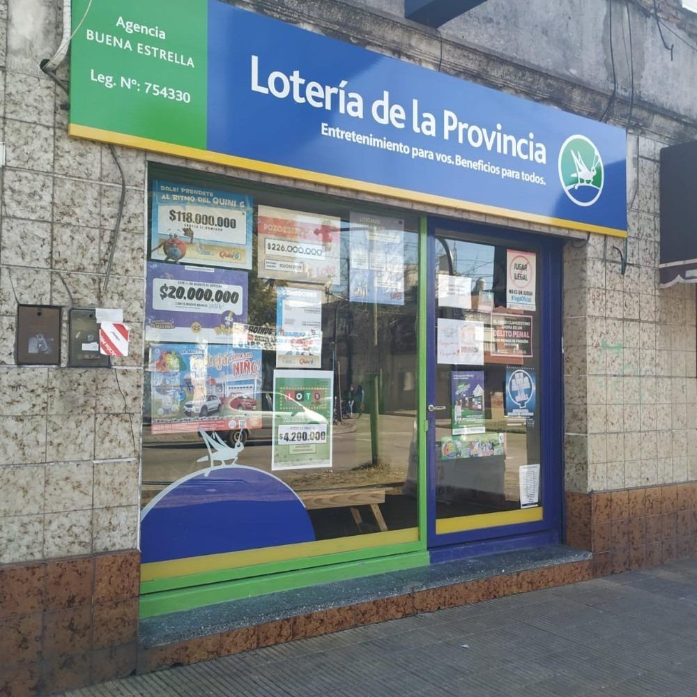 agencia de lotería con más de 10 años en el barrio