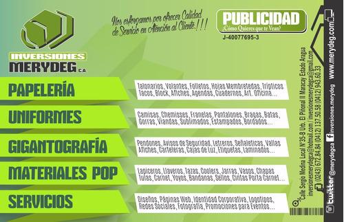 agencia de publicidad - materiales publicitarios