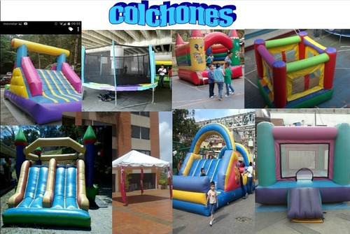 agencia festejos infantiles colchon inflable sonido