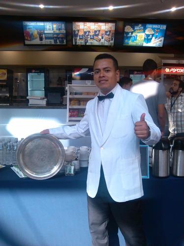 agencia mesoneros bartenders cocineros platos vasos copas