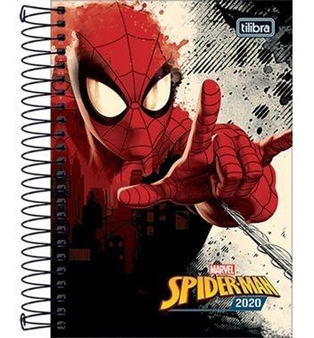 agenda 2020 tilibra spiderman  anual con espiral impobarato