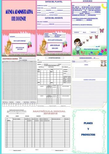 agenda administrativa para el docente de educación inicial