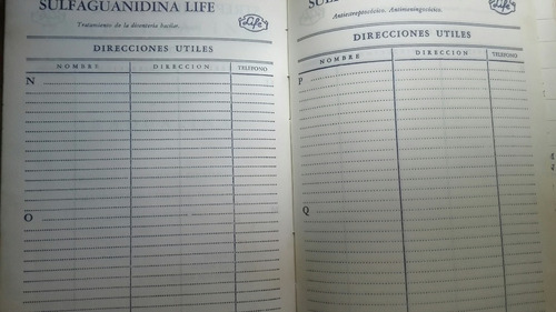 agenda antigua 1951 notas coleccion b278
