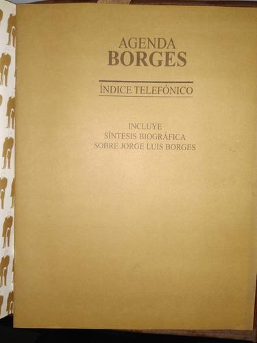 agenda borges 2001, ideal coleccionistas