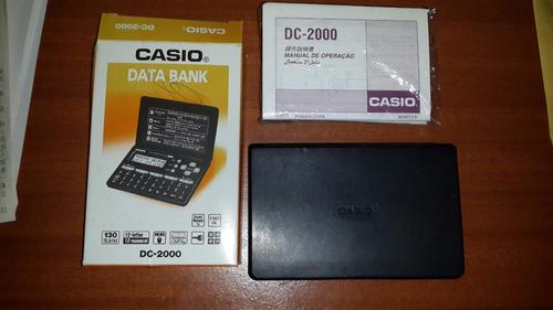 agenda calculadora casio dc- 2000