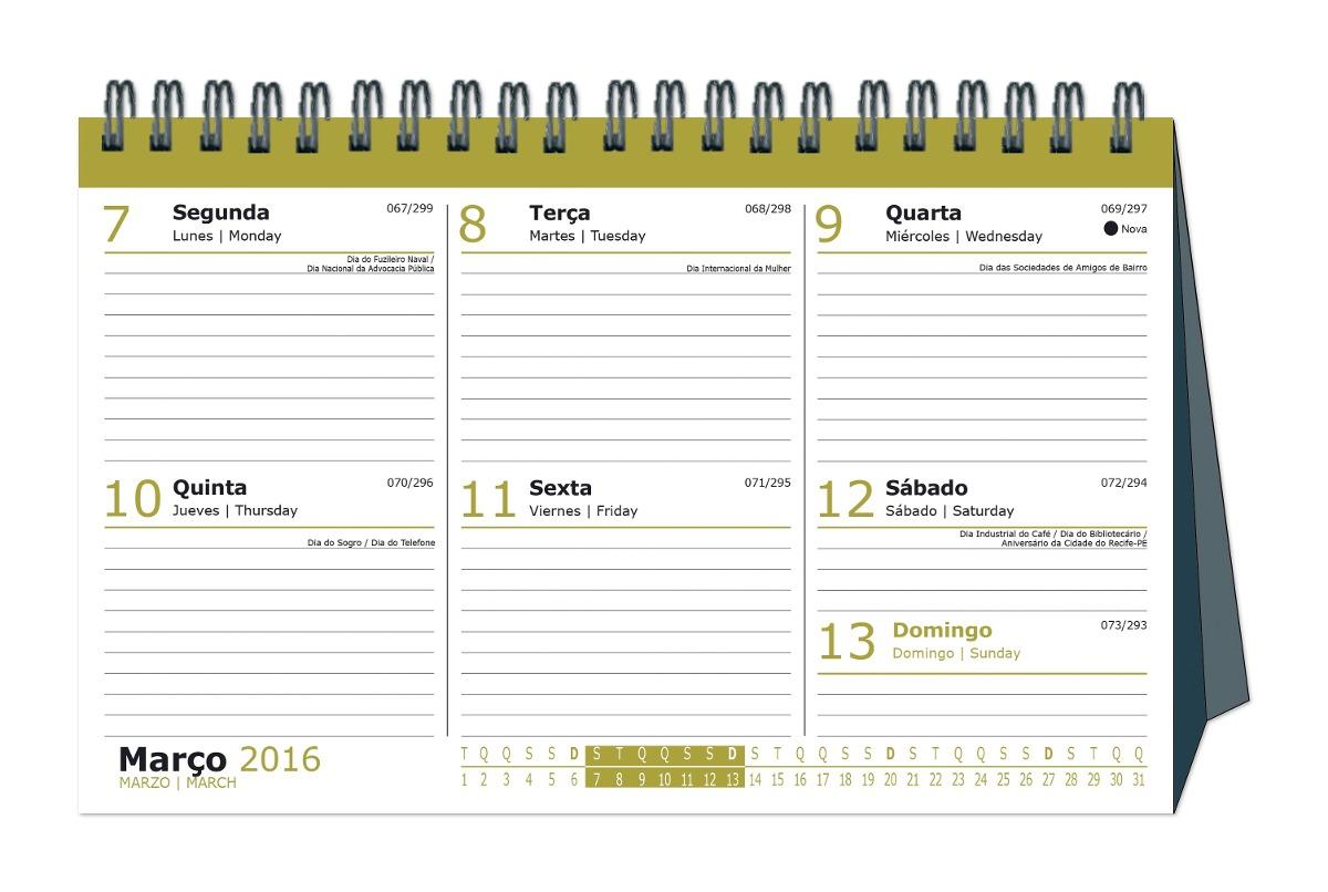 Agenda Calendário De Mesa B2b 2016 - São Domingos - R$ 25