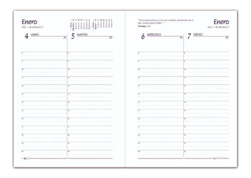 agenda cristiana 2021 -insigne - tapa dura acolchada (5055)