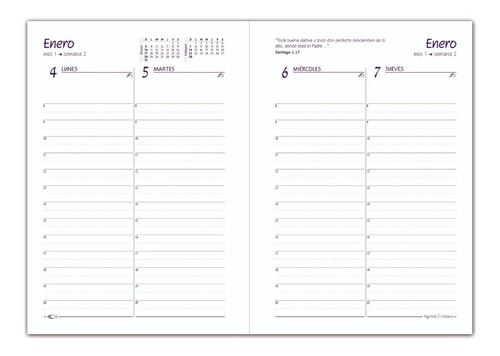 agenda cristiana 2021 -insigne - tapa dura acolchada (5056)
