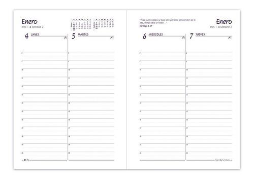 agenda cristiana 2021 - tapa dura (art. 1082) 15cm x 20cm