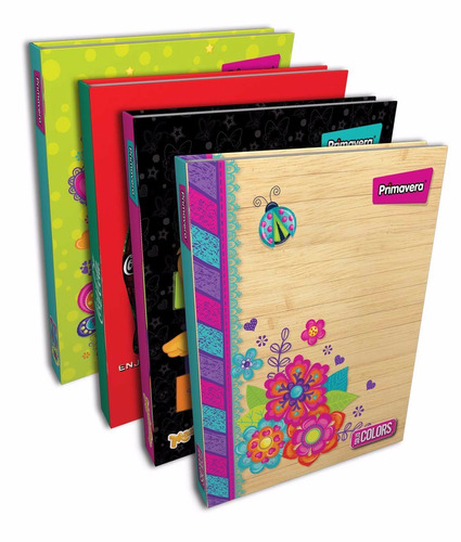 agenda cuaderno 5 materias 150 hojas universidad  23,5x18cms