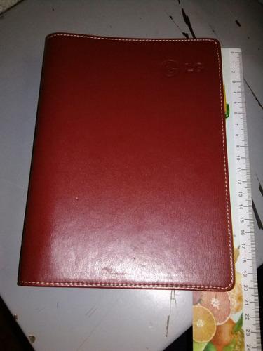 agenda cubre cuaderno imitación piel reutilizable esquela.