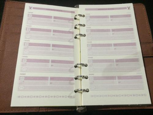 agenda de anotações louis vuton