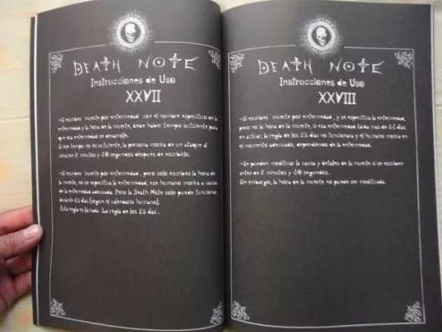 agenda death note original libreta anime