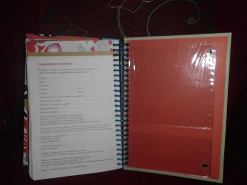 agenda decorada años 2.012 sin rayar intacta med 16x20