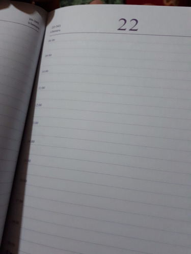 agenda diaria 2018 día por pagina 3 colores solo envio