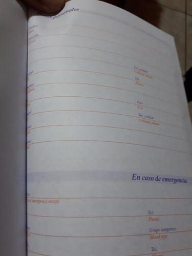agenda diaria 2019 día por pagina 3 colores solo envio