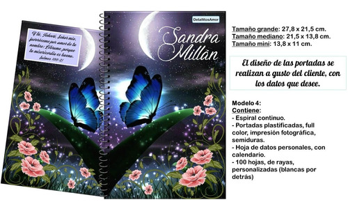agenda diario libreta cristiana cuaderno personalizado