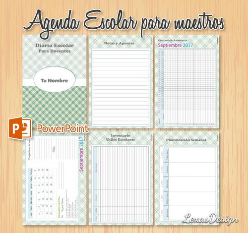 agenda docente planificado digital, educacion inicial