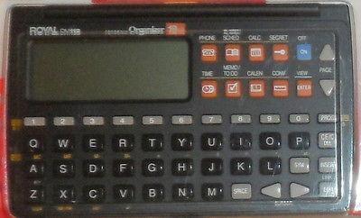 agenda eletronica royal dm118 usada s/pilhas. envio t.brasil