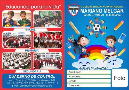 agenda escolar · cuaderno de control 2020 · personalizado