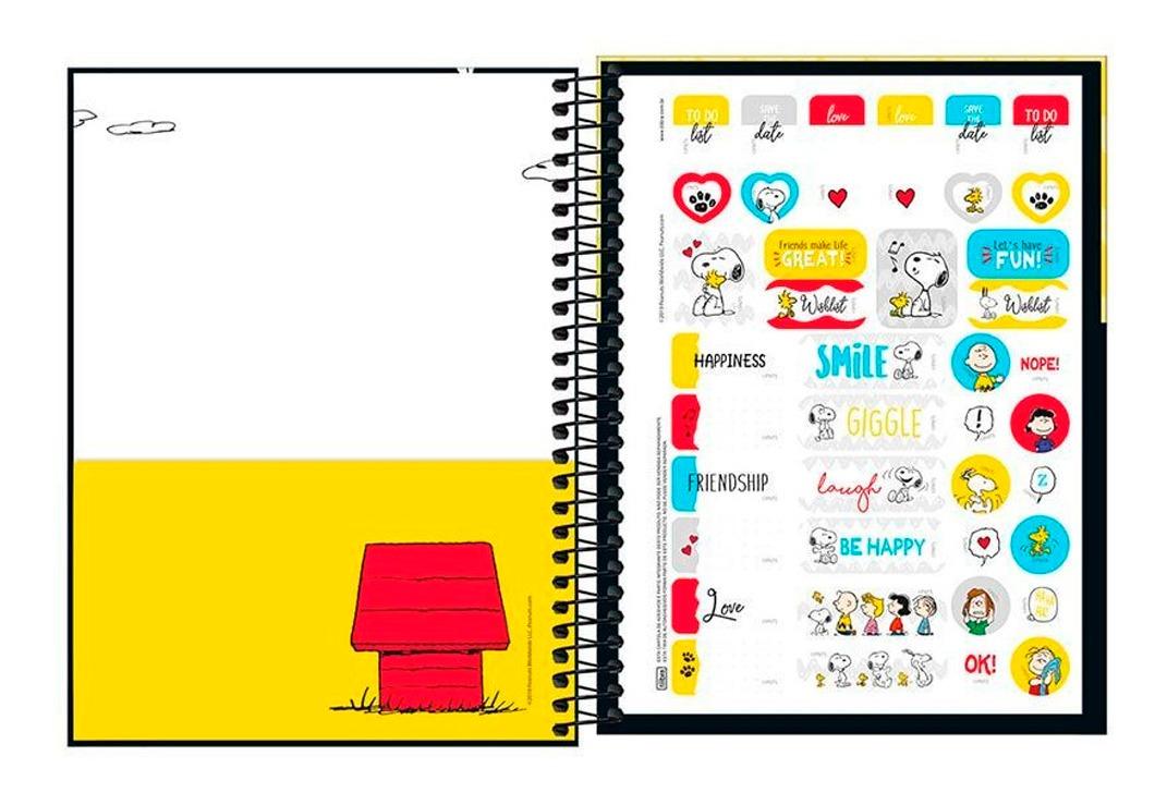 Calendario Snoopy 2020.Agenda Espiral Planner M7 Snoopy 2020 2 Tilibra