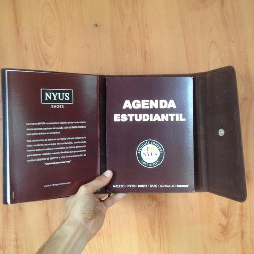 agenda estudiantil diaria  marron