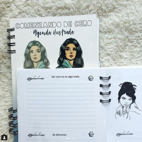 agenda ilustrada 2018 de chriss braund, comenzando de cero