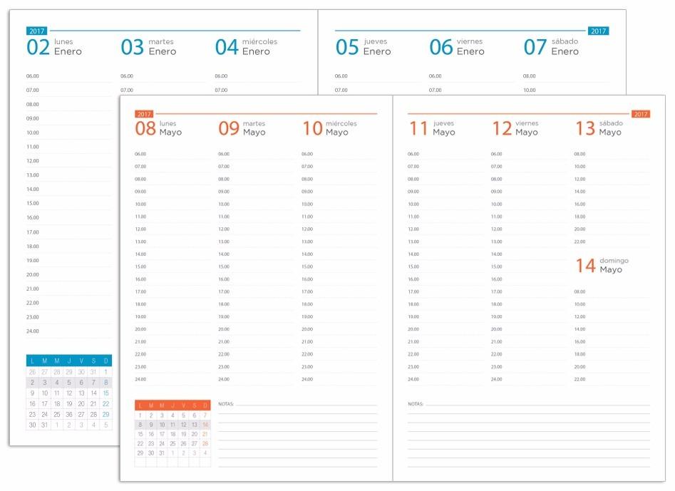 Formato de agenda semanal - Agenda imprimible 2017 ...