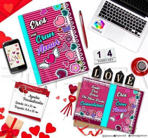 agenda libreta personalizada regalos enamorados san valentin