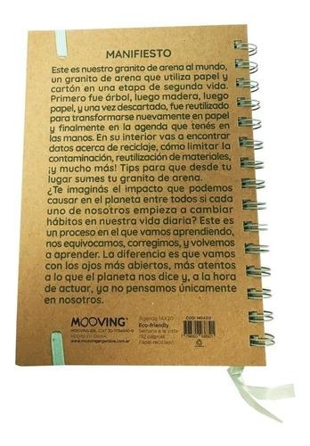 agenda mooving eco friendly t/ dura 14x20cm s/vista