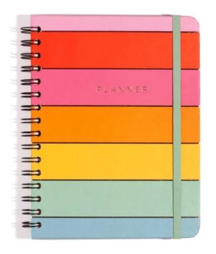 agenda planner  arco iris semanal - a5 wire-ô - cicero