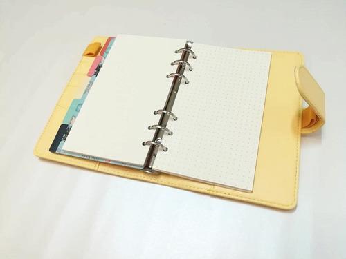 agenda planner caderno fichario a6 (com um defeito)