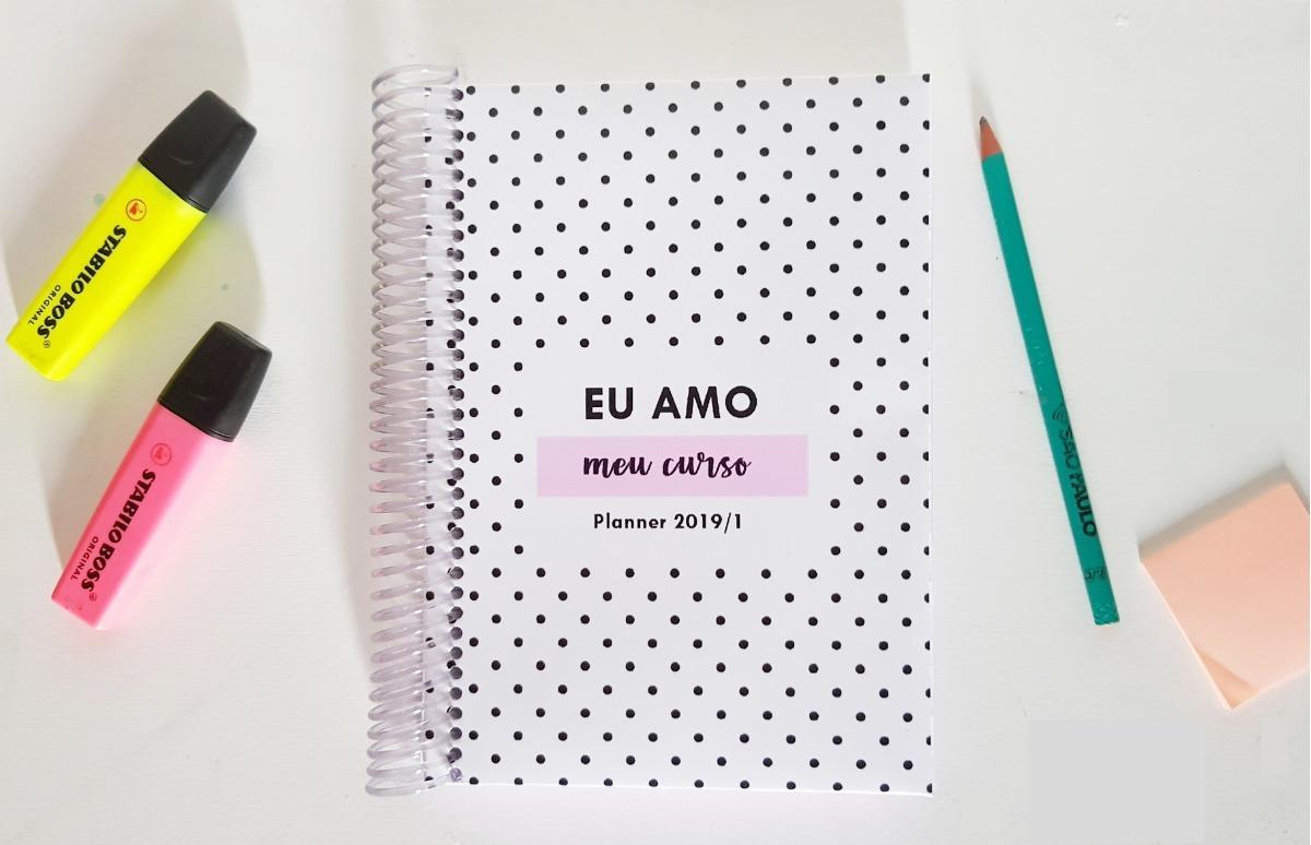 0c35266c6 Agenda Planner De Estudos Universitario / Jan A Junho 2019 - R$ 99 ...