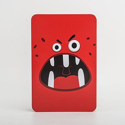agenda retro vintage kawai cubierta metal monstruo rojo