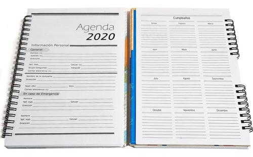 agendas 2020 personalizadas tapa dura, planificador