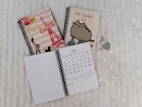 agendas anuales 2020 personalizadas..con accesorios..