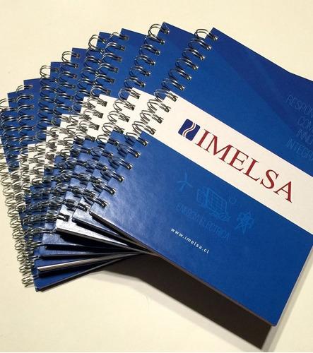 agendas corporativas personalizado cuaderno espiral 3.50x100