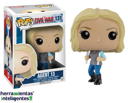 agent 13 funko pop capitan américa civil war marvel película