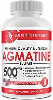 Agmatine - 60 Vegetarian Capsules - 500mg Per Serving - Endu