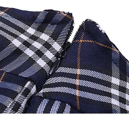 agoky mujer de manga corta camisa con falda plisada y corbat
