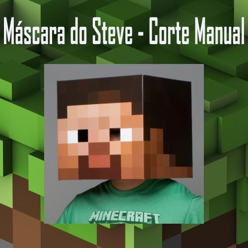 agora em png e pdf minecraft máscara do steve aproveite r 12