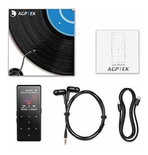 agptek 16 gb bluetooth reproductor de mp3 portatil de alta f