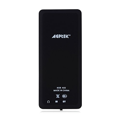 agptek a02 8gb mp3 player con ranura para tarjeta micro sd,