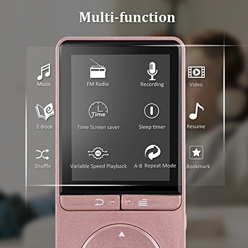 agptek a20 reproductor de mp3 de 8gb con radio fm grabador d