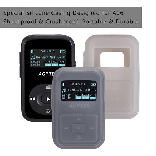 agptek a26 8gb reproductor de mp3 bluetooth, clip