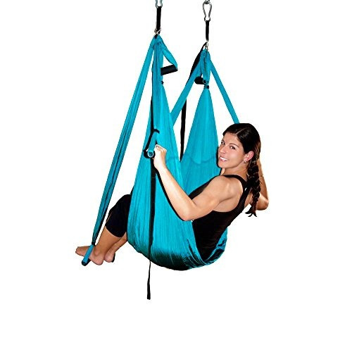 agptek deluxe hamaca columpio aérea yoga / inversión / hond