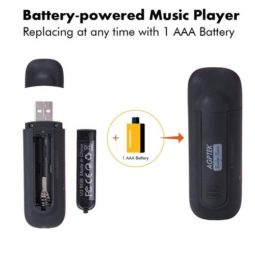 agptek u3 usb stick mp3 player, reproductor de música