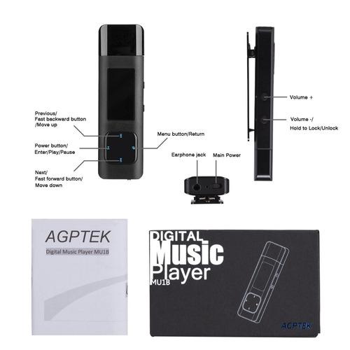 agptek8gb mp3player, reproductor de música