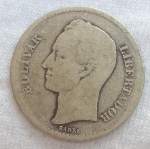 agradable bolivar de plata moneda de venezuela de 1926.