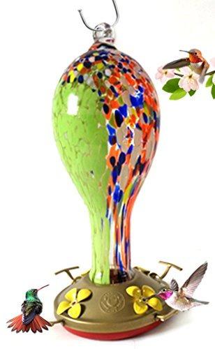 agradecido gnomo  alimentador de colibrí  cristal  wildfl